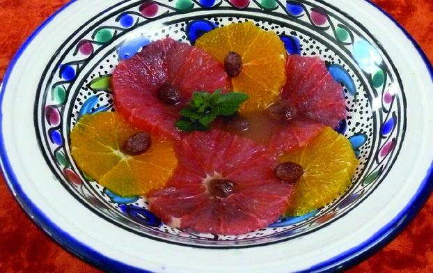 Carpaccio d'agrumes à la fleur d'oranger
